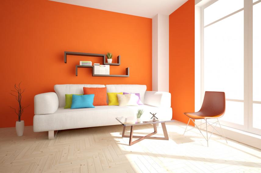Salon w kolorze pomarańczowym