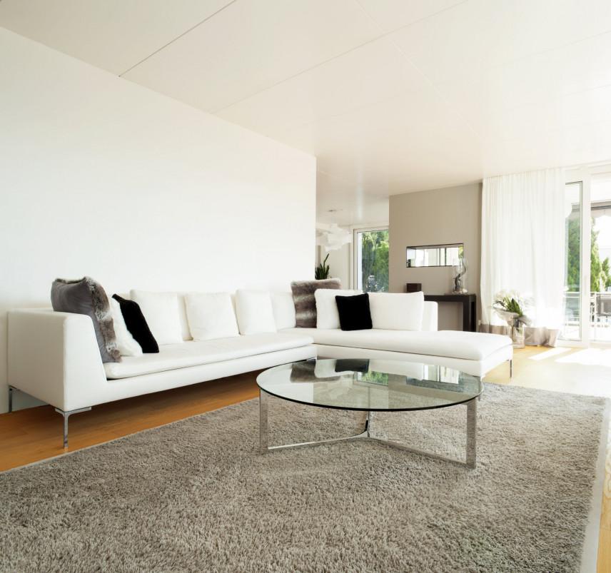 Projekt białego salonu