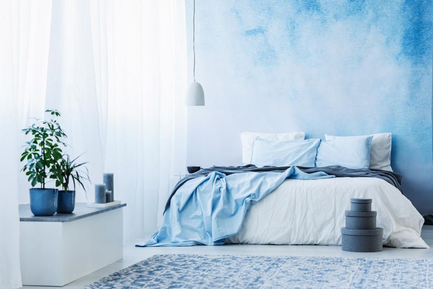 Niebieska tapeta