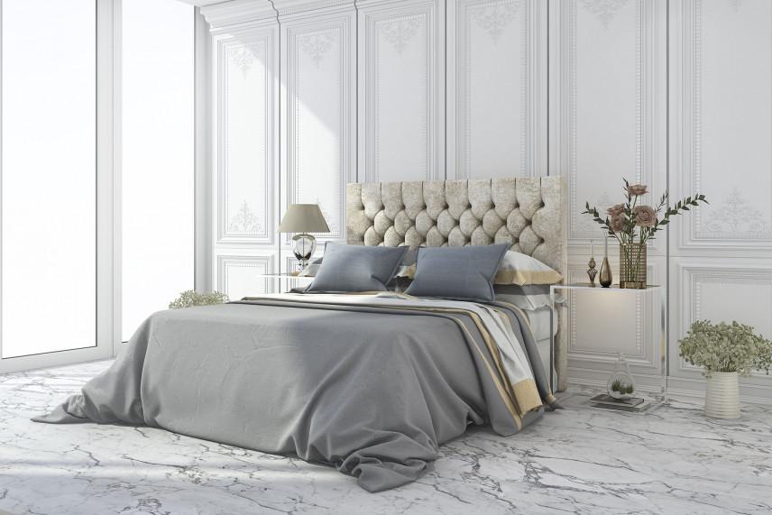 Sypialnia z pikowanym zagłówkiem