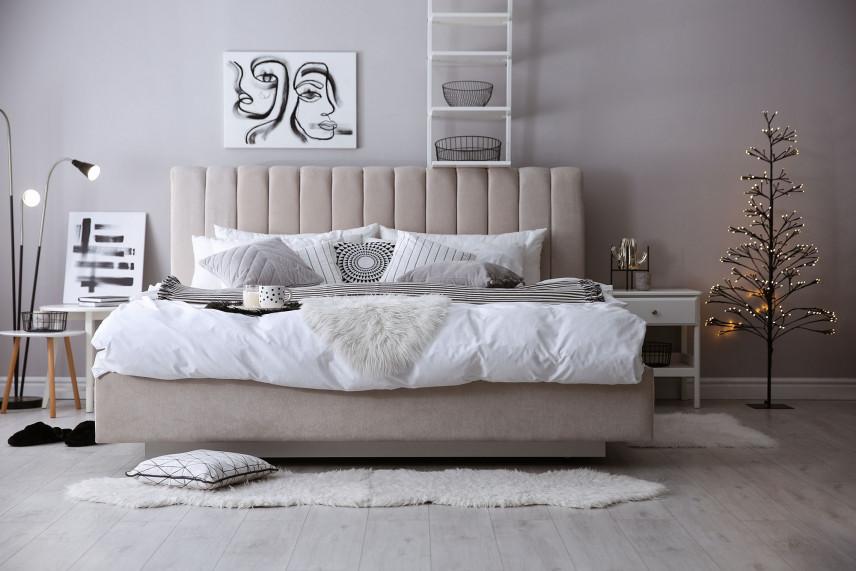 Tapicerowane, podwójne łóżko