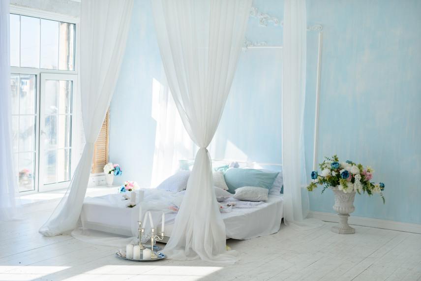 Sypialnia z baldachimem