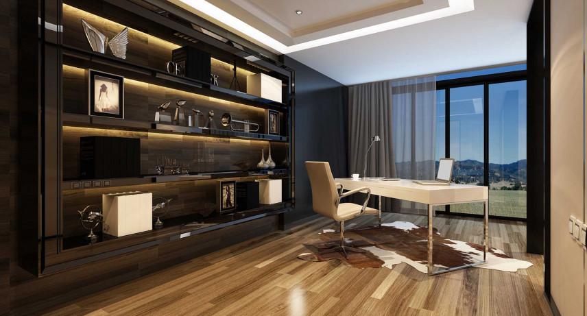 Duże biuro w nowoczesnym stylu