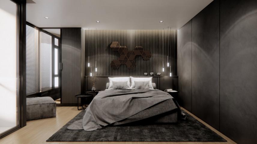Sypialnia z podświetleniem Led