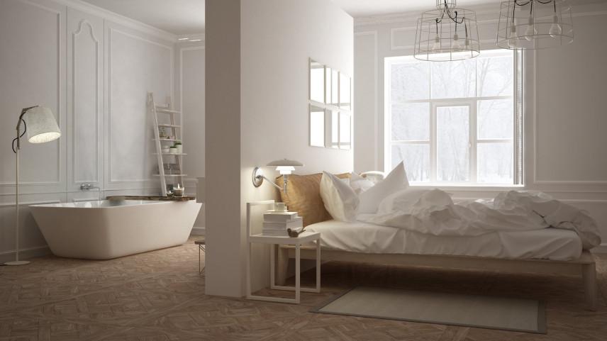 Sypialnia z łazienką