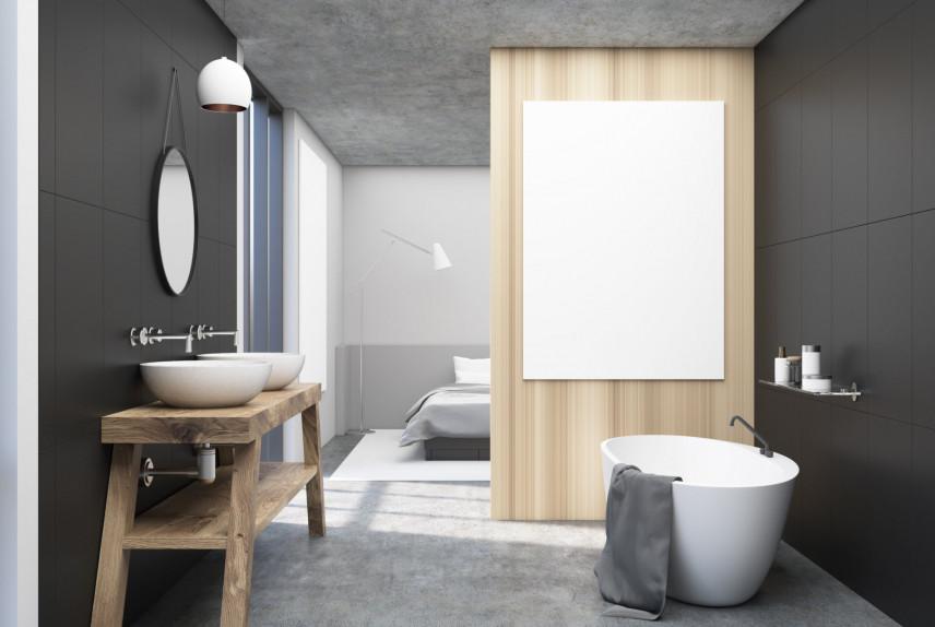 Projekt sypialni w stylu industrialnym