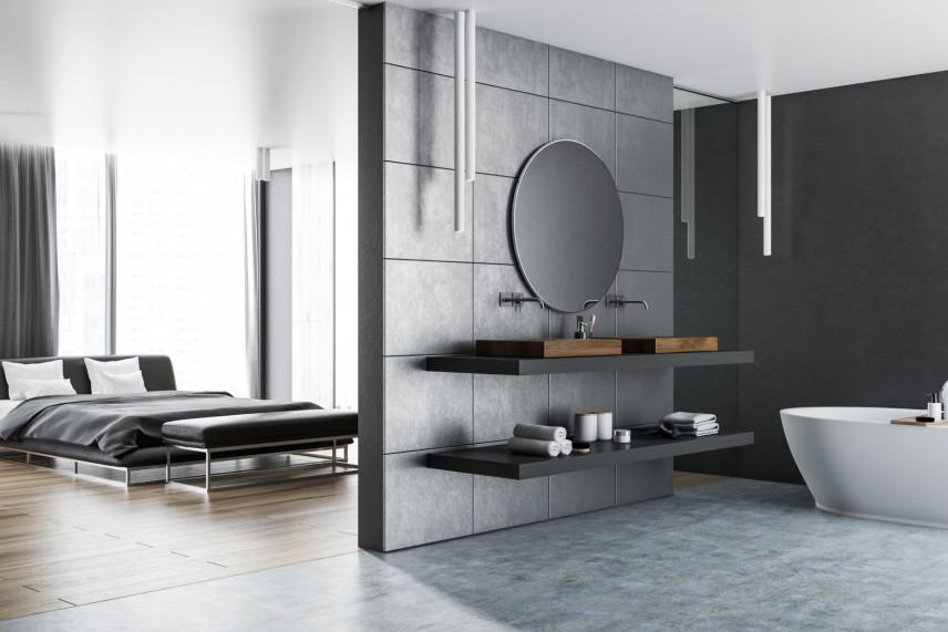 Łączona sypialnia z łazienką