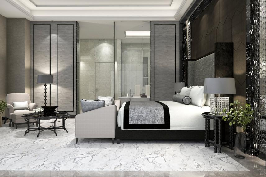 Sypialnia z łazienką w stylu francuskim