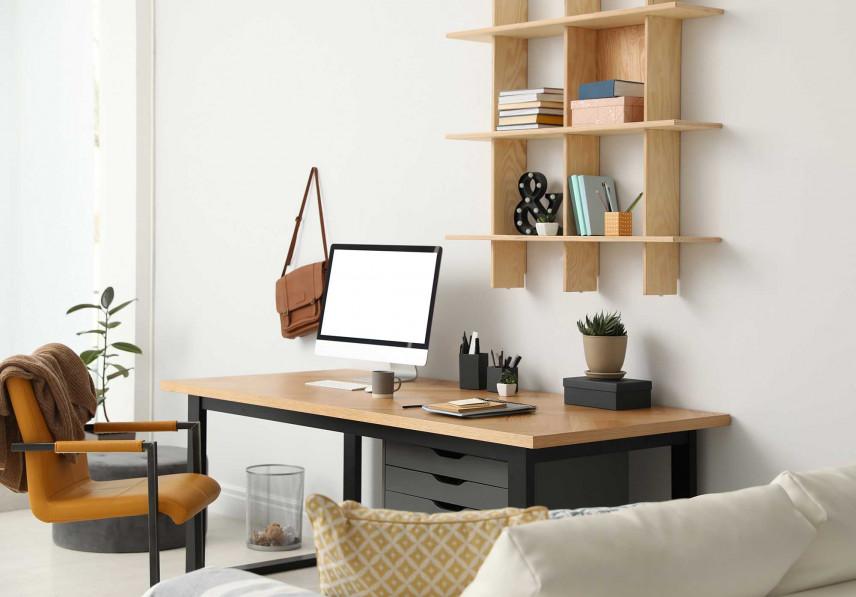 Przestrzeń do pracy w salonie