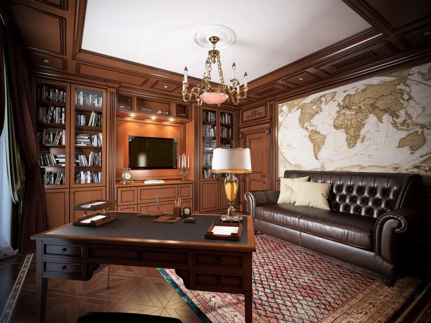 Przestronne biuro z kanapą