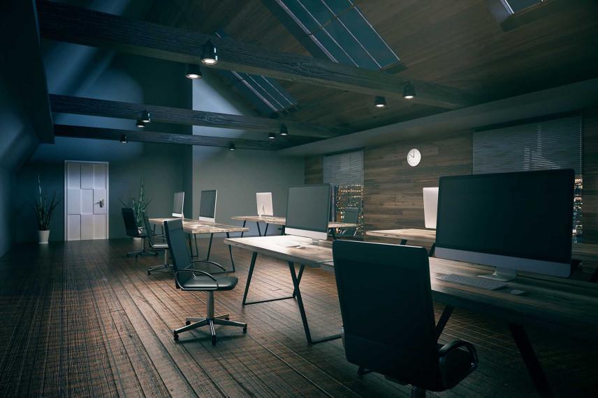 Biuro na poddaszu