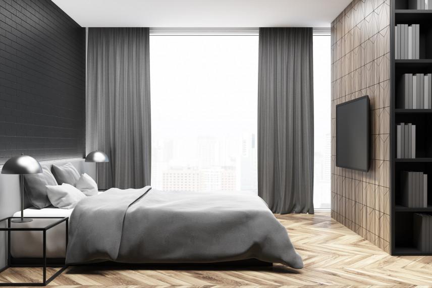 Sypialnia z parkietem