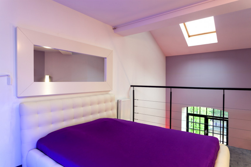 Projekt sypialni na antresoli