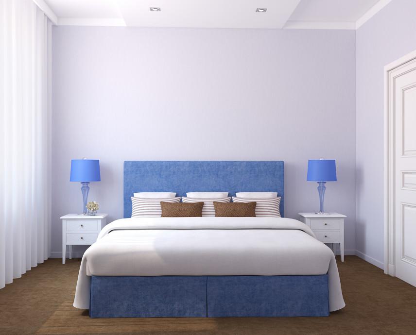 Sypialnia w kolorach lawendy