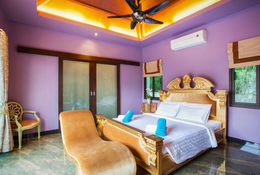 Aranżacja fioletowej sypialni