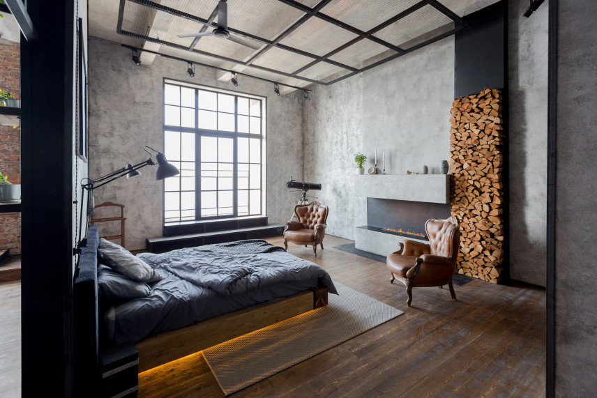 Pomysł na loftową sypialnie