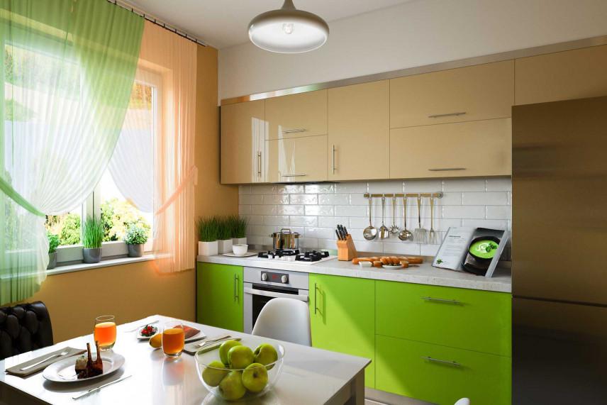 Kuchnia w kolorze zielonym