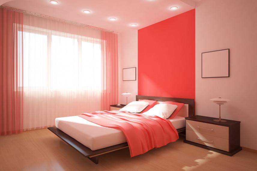 Aranżacja czerwonej sypialni