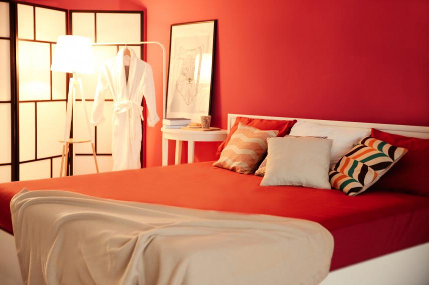 Projekt czerwonej sypialni