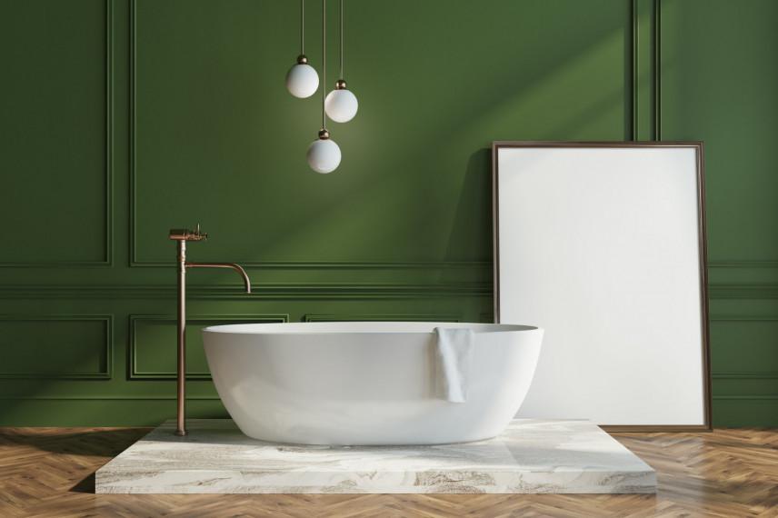 Projekt zielonej łazienki