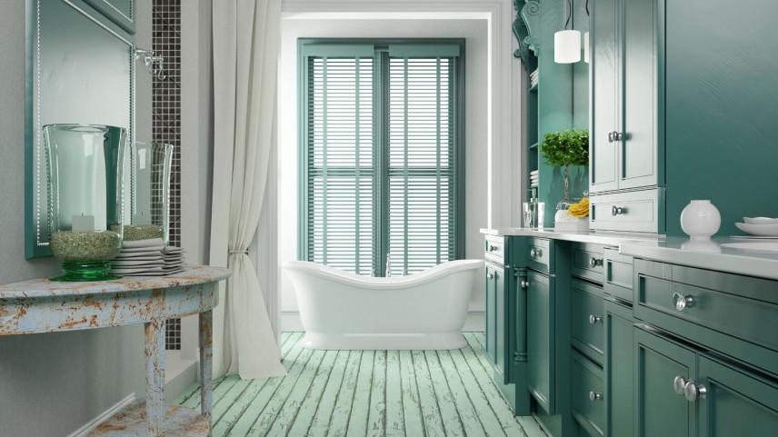 Łazienka w stylu toskańskim