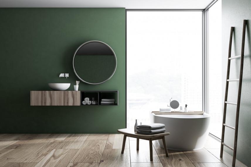 Aranżacja zielonej łazienki