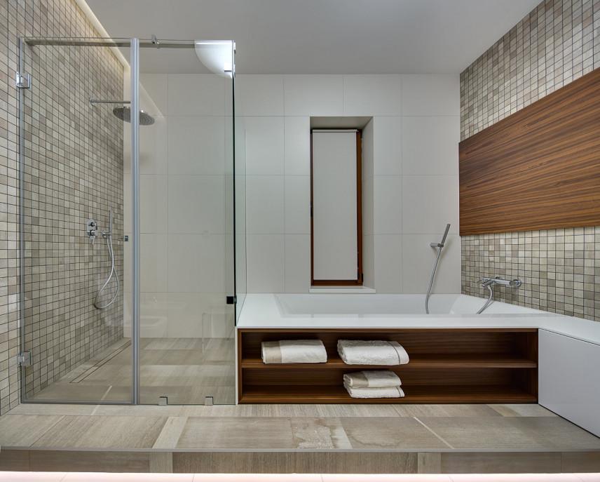 Designerska łazienka w stylu skandynawskim