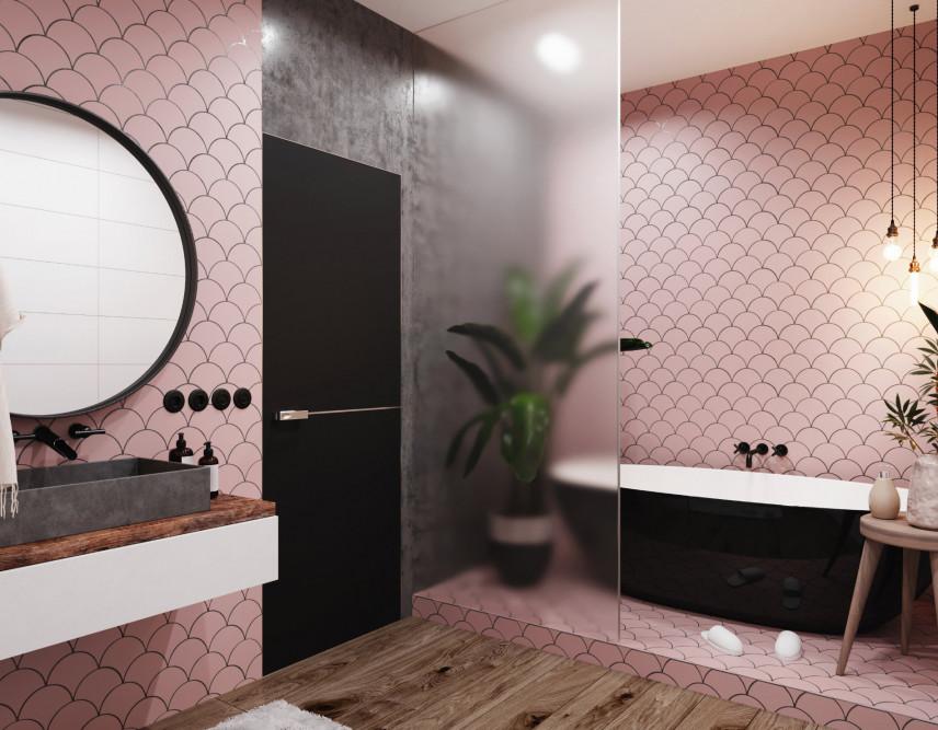 Łazienka w tonacji pudrowego różu