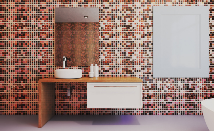 Designerska, minimalistyczna łazienka
