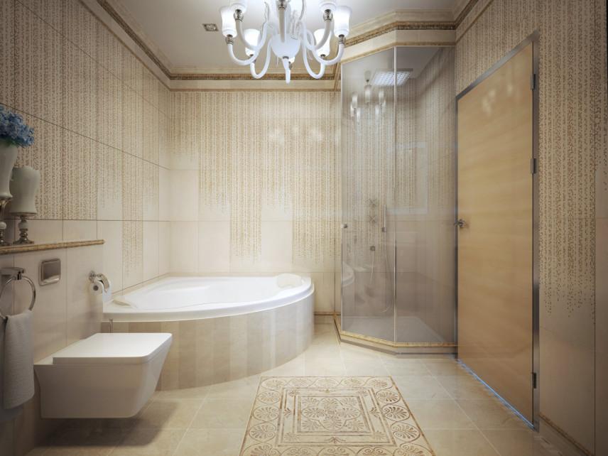 Wanna z prysznicem w łazience