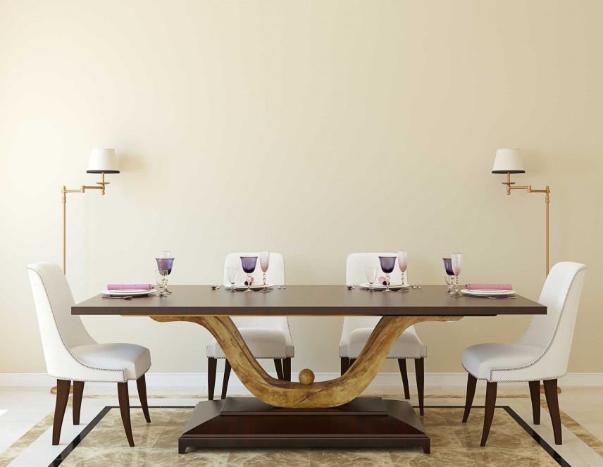 Jadalnia z nowoczesnym stołem