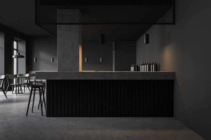 Kuchnia czarna industrialna