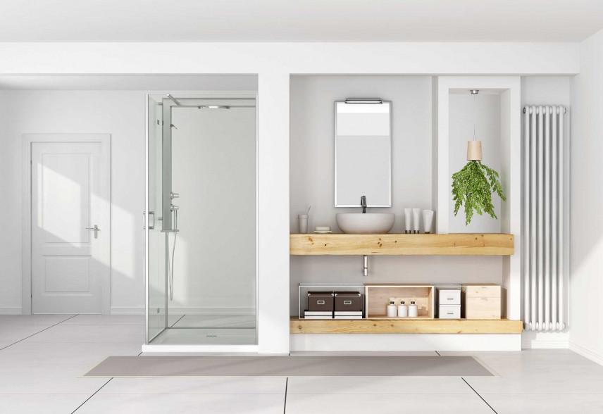 Biała łazienka w stylu skandynawskim