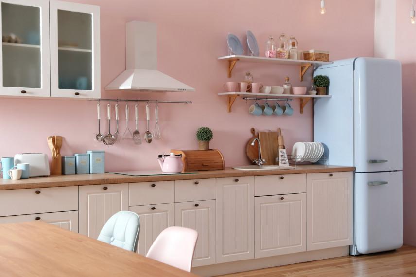 Kuchnia w kolorze pudrowego różu