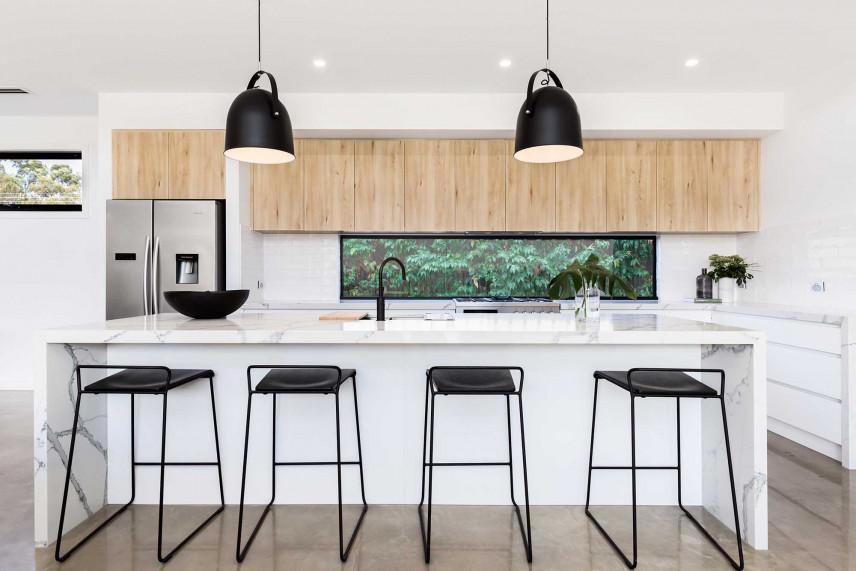 Biała kuchnia w stylu loftowym