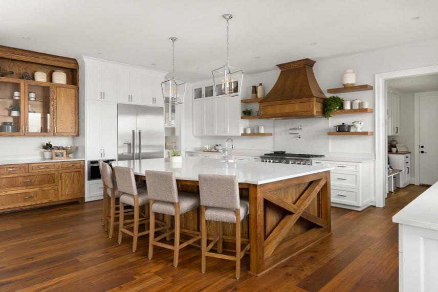Drewniana kuchnia w stylu rustykalnym