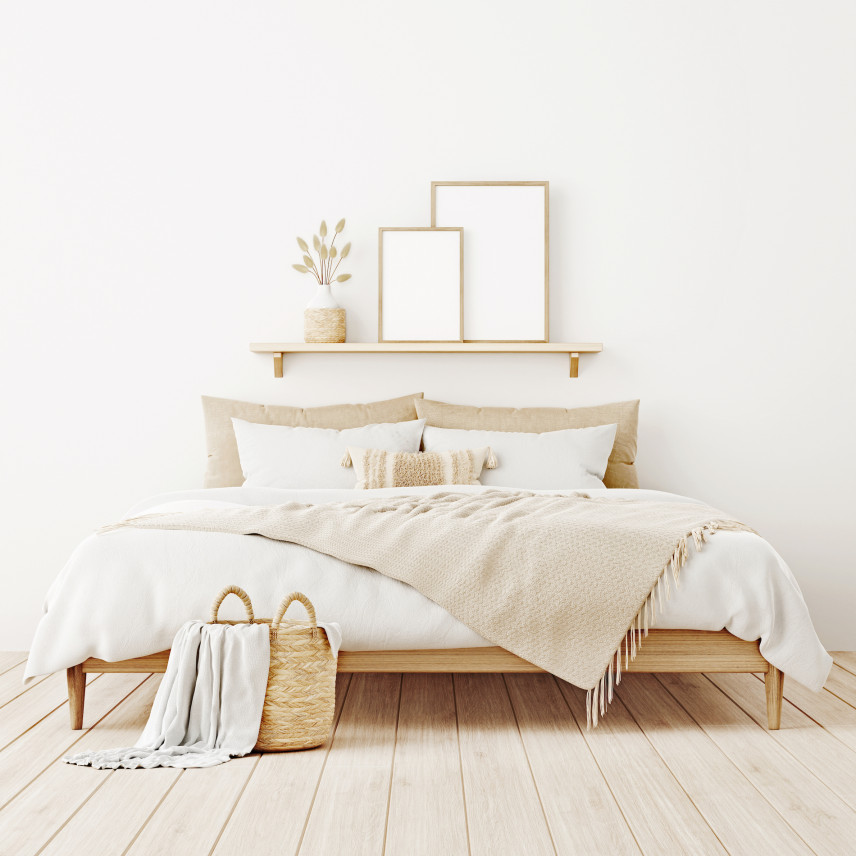 Drewniane łóżko kontynentalne