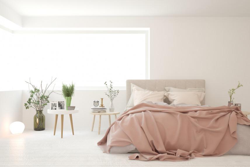 Łóżko kontynentalne z zagłówkiem