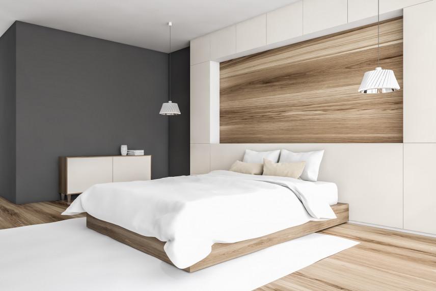 Aranżacja ściany w sypialni