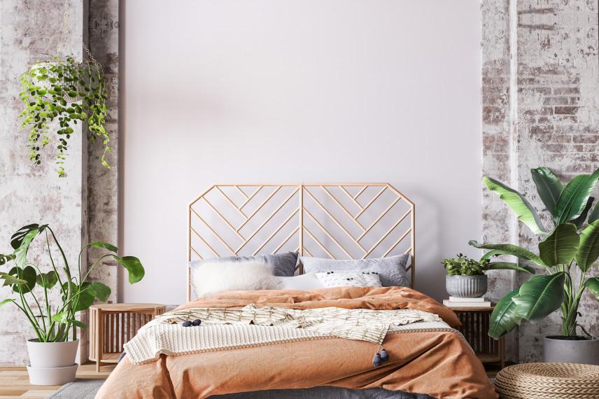 Metalowy stelaż do łóżka