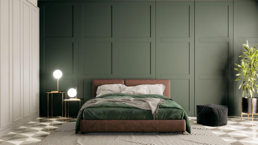 Ściana w kolorze zielonym