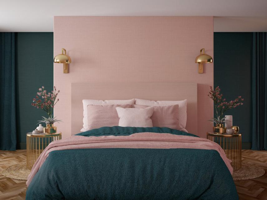 Ściany w kolorze różowo-zielonym