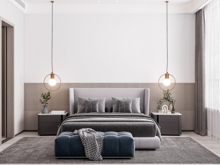 Stylowe lampy wiszące w sypialni
