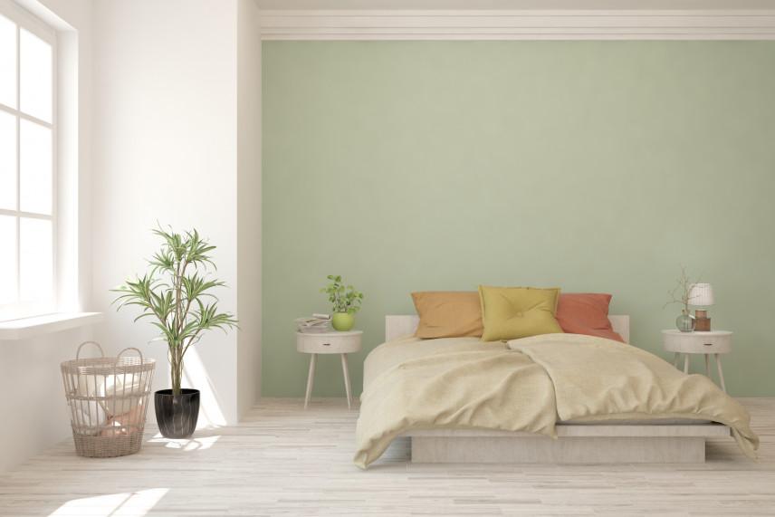 Jasna zieleń w sypialni