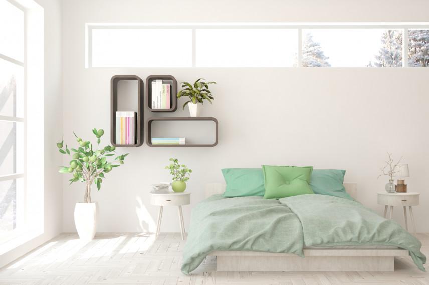 Stylowe drewniane półki na ścianie