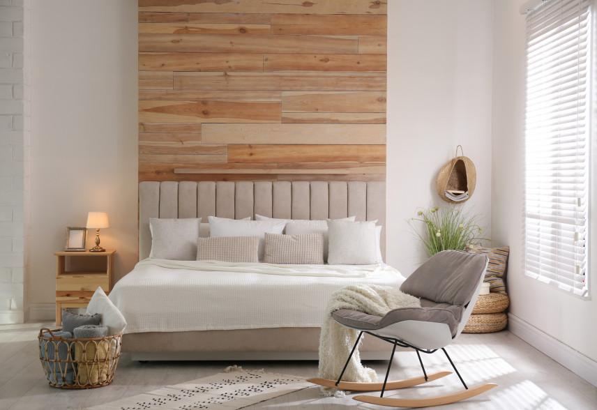 Fotel na płozach jako dodatek w sypialni