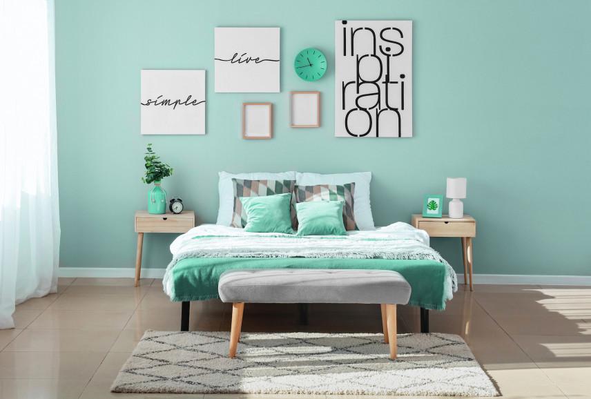 Piękny odcień zieleni na ścianie