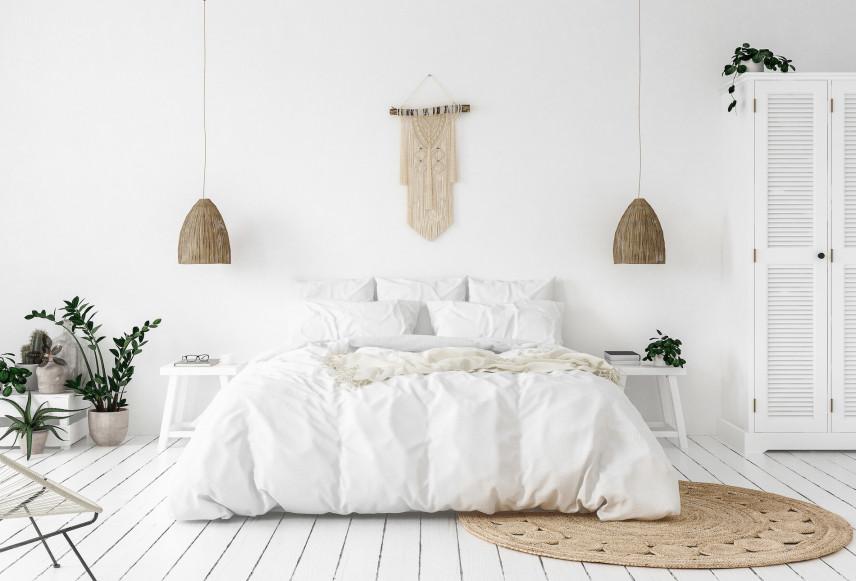 Mała makrama w sypialni