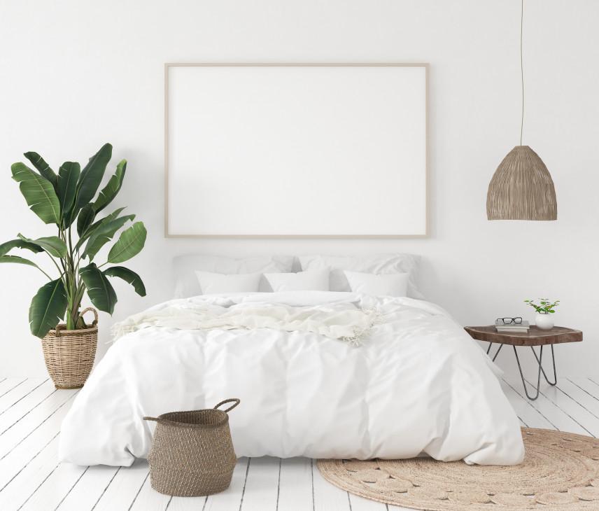 Projekt sypialni z drewnianą podłogą