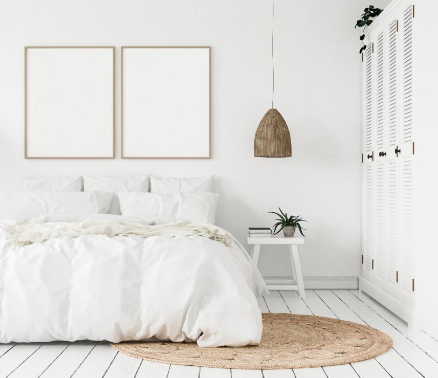Projekt sypialni z ażurową szafą